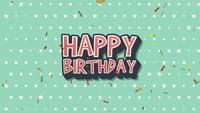 Retro Text Alles Gute zum Geburtstag