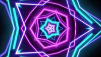 Lignes géométriques de mouvement néon