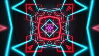 Neon geometric shape
