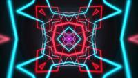 Forma geométrica de neón