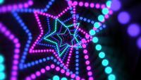Beweging kleurrijke neonsterren