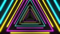 Kleurrijke abstracte neondriehoeken