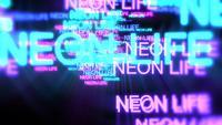 Rörelse av neontext Neon Life