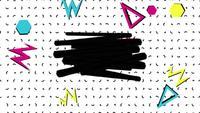 Mouvement abstrait en zigzag et triangles