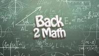 Texto de regreso a matemáticas y fórmulas matemáticas