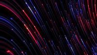 Loop de fibra óptica abstrato vermelho-azul linhas digitais
