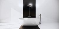 Douche dans une chambre de style moderne