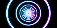 Animação com fundo de trilhas de luz azul