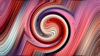 Rainbow Spiral Shape Dynamic Hypnotic Motion Loop
