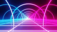 Seamless loop motion neon background.