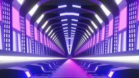 Loop animation av futuristisk tunnel.
