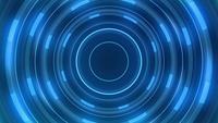 Blauwe lijnen in een tunnel