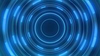 Lignes bleues dans un tunnel