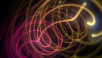 Neonröda och gula linjer