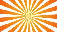 Orange gelbe Sonnenstrahlungskarikaturart.