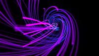 Dynamic Neon Purple Lines