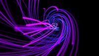 Dynamische Neon Lila Linien