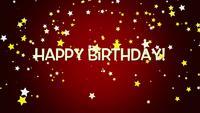 Confeti y texto de feliz cumpleaños