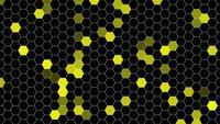 Geometric Yellow Hexagons