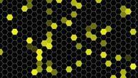 Hexagones jaunes géométriques