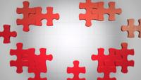 Red Pieces of Puzzle