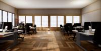 O interior de um grande escritório