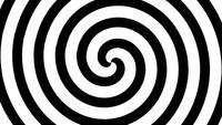 Spiralübergang mit weißer und schwarzer Linie.