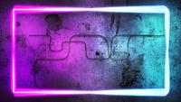 Rectangular Neon Lights on a Wall
