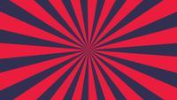 Les rayures rouges et bleu foncé tournent lentement.