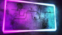 Kleurrijke Club Lights op een muur