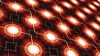 Modèle de carte de circuit imprimé de grille de matrice numérique de transition de boucle