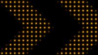 Lumières LED jaunes qui bouclent En forme de flèche indiquant un chemin