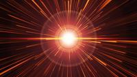 Explosión dinámica de luz de flash con destellos de luces doradas