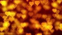 Gelbgoldene Herzen schweben