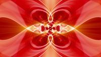 Loop VJ de onda de energia vermelha abstrata com ritmo hipnótico