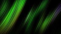 Animación de lazo de líneas de rayas láser de neón verde oscuro