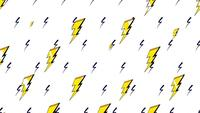 Yellow retro thunderbolt