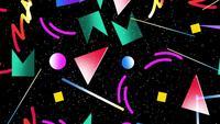 Memphis geometrische patroon
