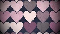Patrón de grandes corazones rosas