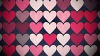 Patrón de corazones pequeños rojos