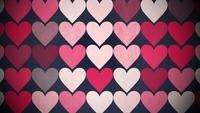 Rotes Muster der kleinen Herzen