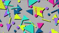 Retro geometrische Form patten