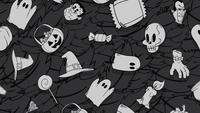 Donker halloween patroon