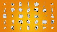 Schwindel Halloween Symbole