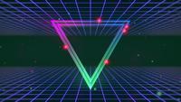 Triangle abstrait et grille bleue