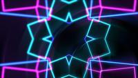 Espectáculo de formas geométricas de neón