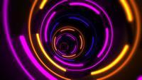 Cercles de vertige laser néon