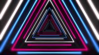 Colorful laser neon triangles