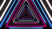 Kleurrijke laserneondriehoeken