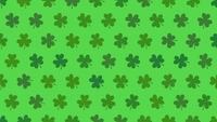 Green shamrocks pattern